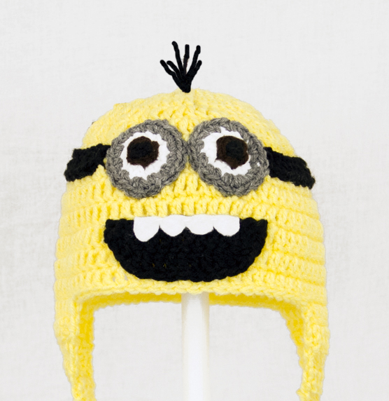 Minion Earflap Hat With Two Eyes from Despicable Me