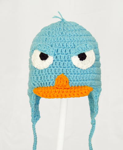 Angry Perry the Platypus Earflap Hat from Phineas and Ferb