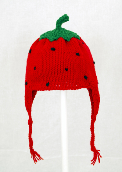 Strawberry Earflap Hat
