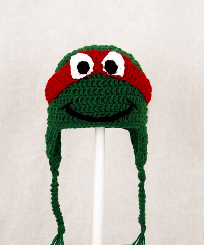 Raphael Earflap Hat from Teenage Mutant Ninja Turtles TMNT