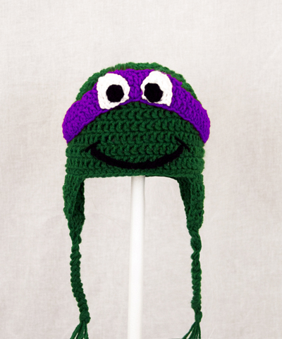 Donatello Earflap Hat from Teenage Mutant Ninja Turtles TMNT