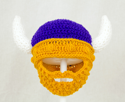 Minnesota Vikings Beard Hat 4000 Cutiehats Custom Hats