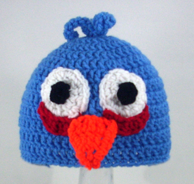 Blue Mad Bird Hat