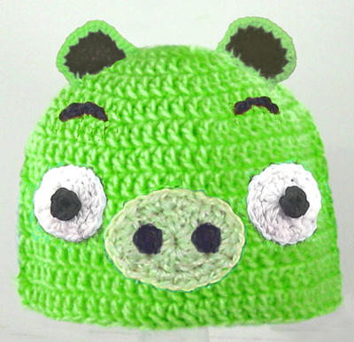 Green Pig Mad Birds Hat