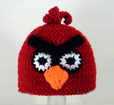 Red Mad Bird Hat
