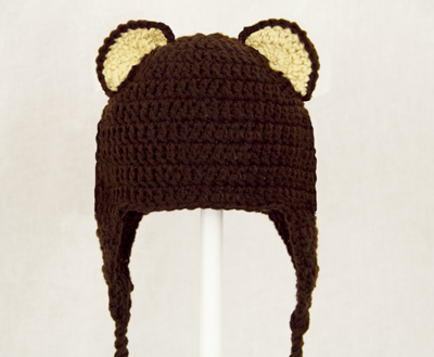 Bear Ear Earflap Hat