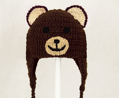 Bear Earflap Hat