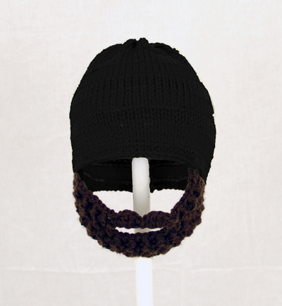 Black Solid Beard Hat