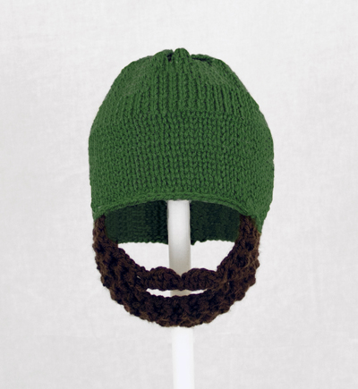 Forest Green Solid Beard Hat