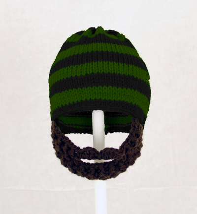 Green/Black Striped Beard Hat