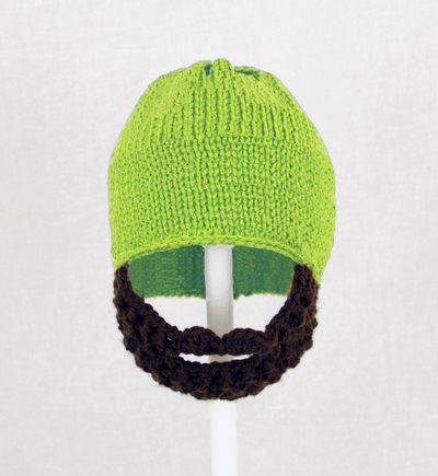 Lime Green Solid Beard Hat