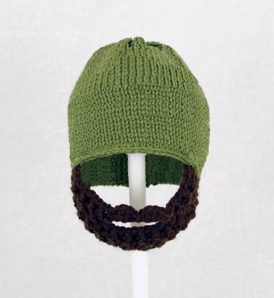 Olive Green Solid Beard Hat