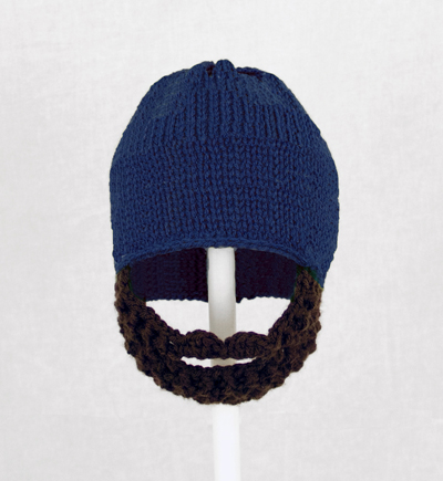 Royal Blue Solid Beard Hat
