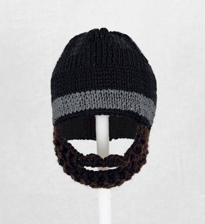 Black One Stripe Beard Hat