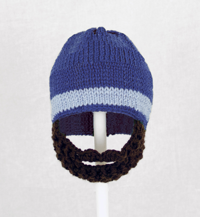 Royal Blue One Stripe Beard Hat