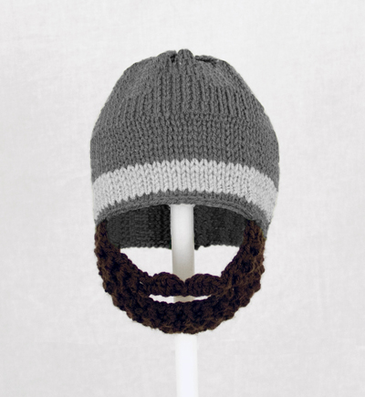 Gray One Stripe Beard Hat