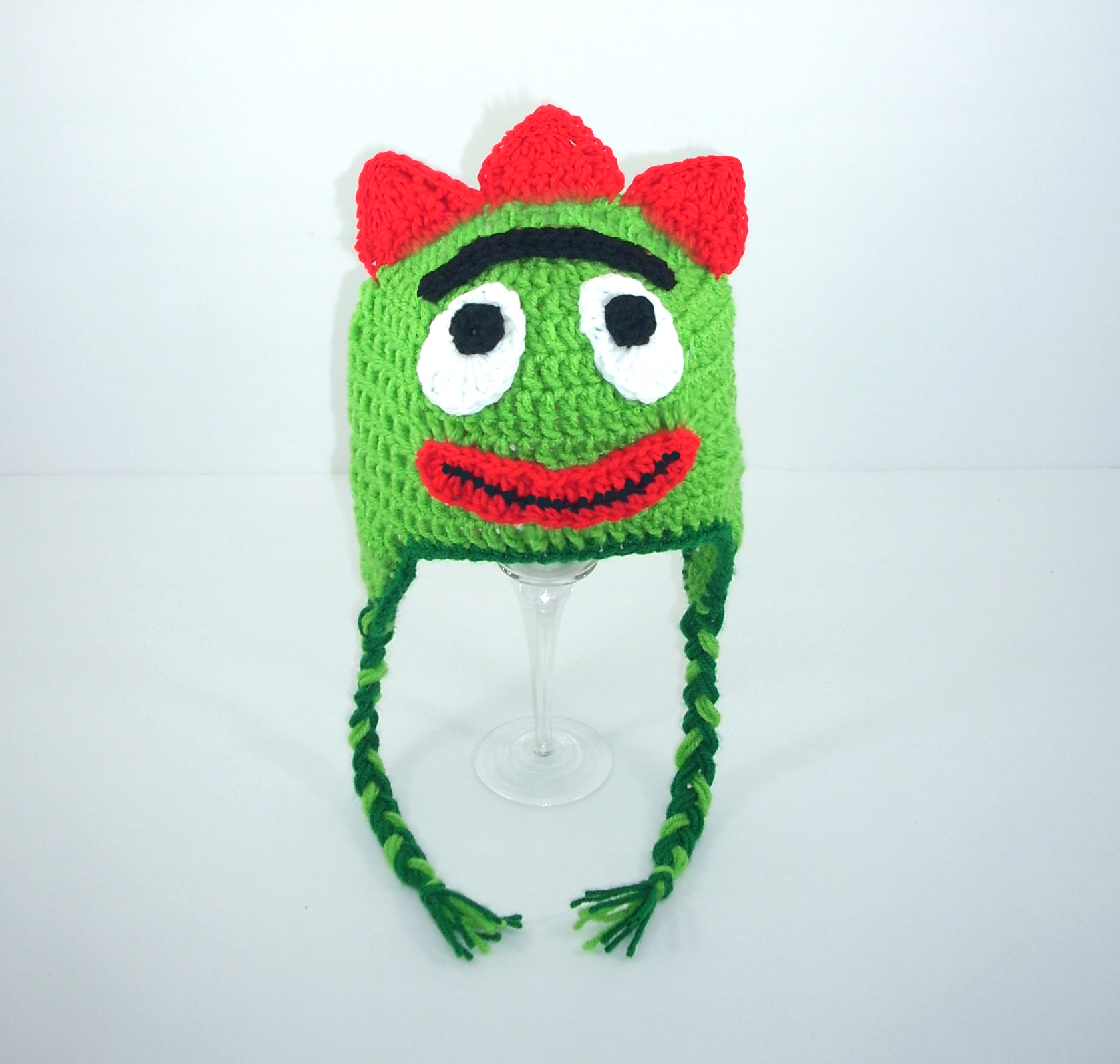Green Monster Guy Earflap Hat