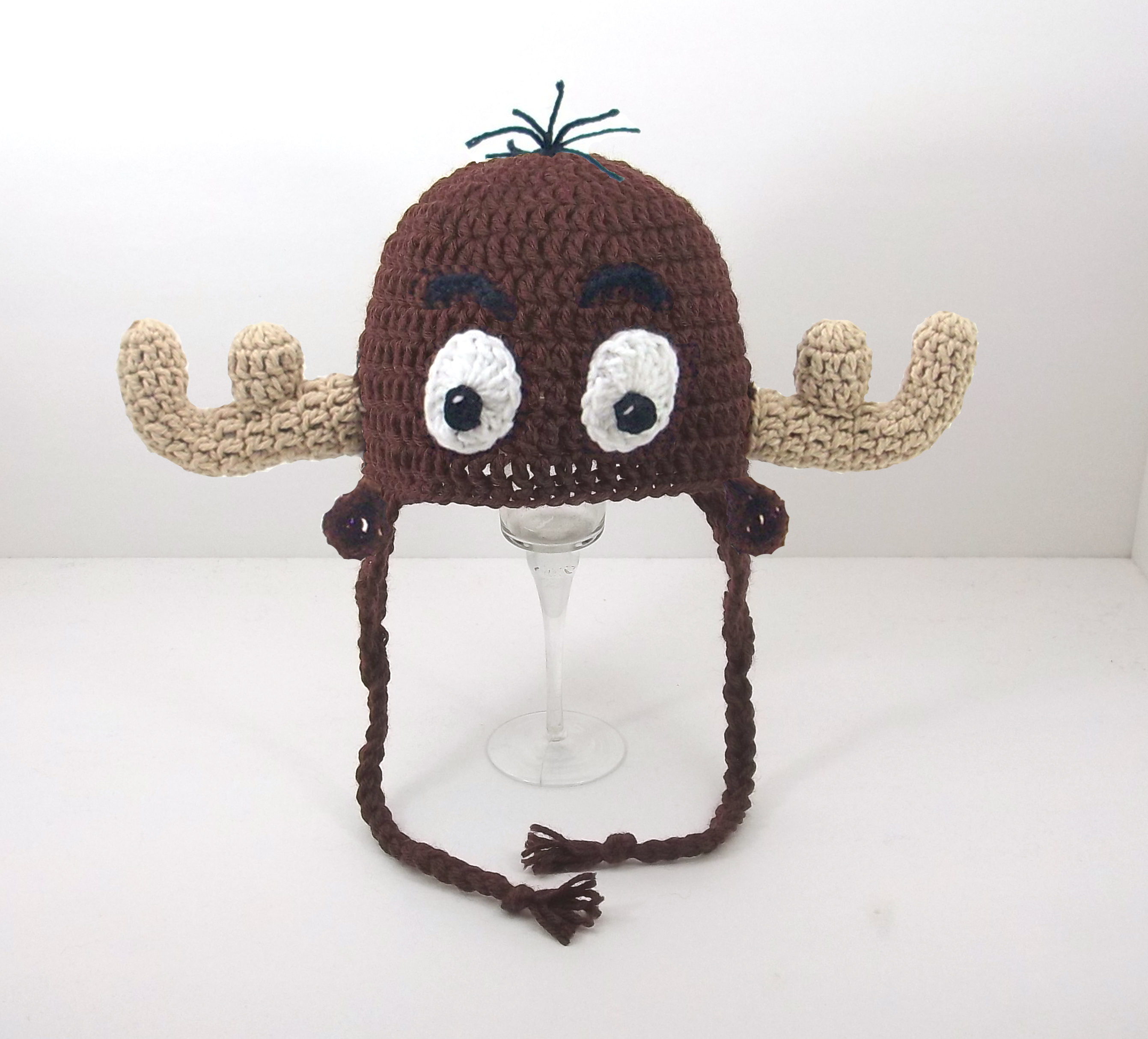 Winkle Moose Earflap Hat - Click Image to Close