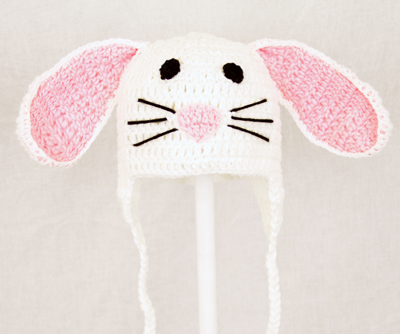 Bunny Rabbit Earflap Hat