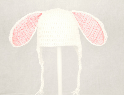 Bunny Rabbit Ears Earflap Hat