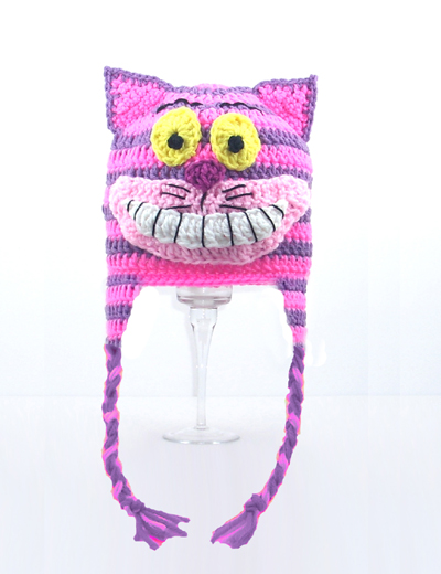 Cheshire Cat Earflap Hat from Alice in Wonderland