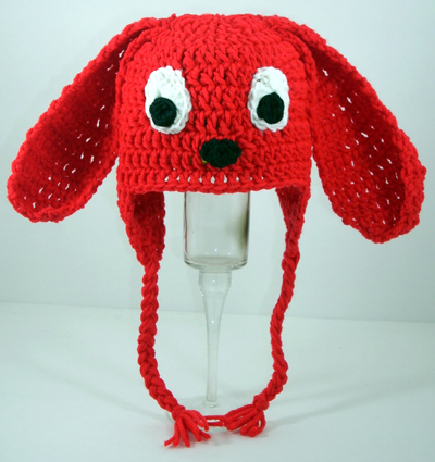 Clifford the Big Red Dog Earflap Hat - Click Image to Close