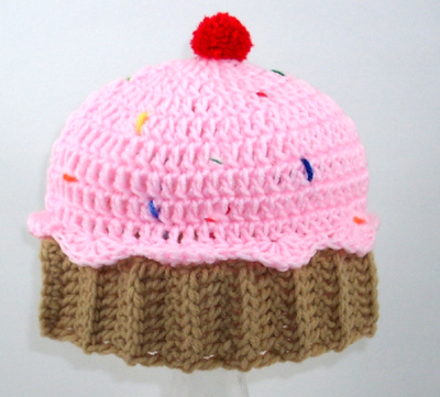 Cupcake Hat With Sprinkles