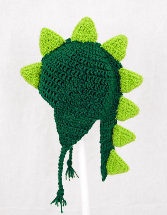 Dinosaur Earflap Hat with Tail in Any Color