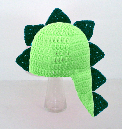 Dinosaur Hat with Tail in Any Color