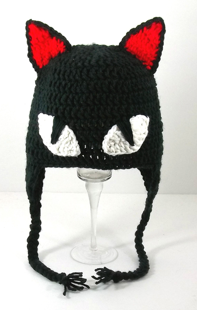 Strange Cat Cosplay Earflap Hat