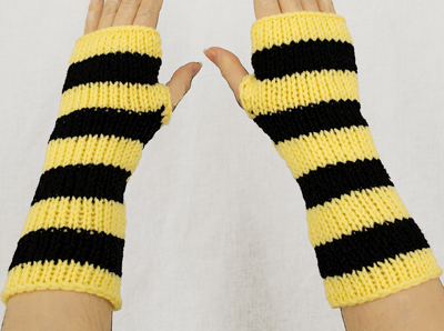 Harry Potter Hufflepuff Fingerless Gloves