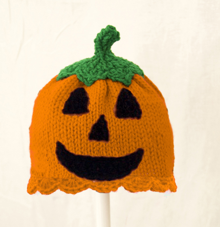 Jack O Lantern Girls Hat for Halloween