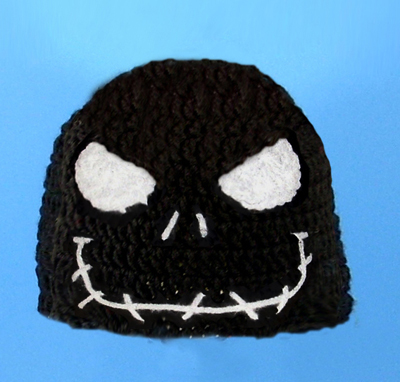Angry Jack Skellington in Black Hat