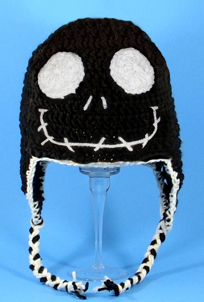 Jack Skellington in Black Earflap Hat