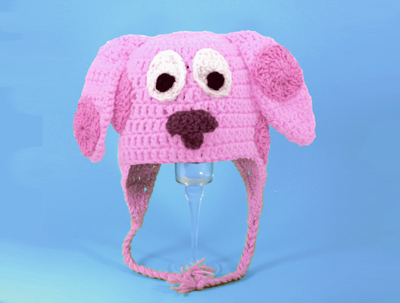 Magenta Dog Earflap Hat from Blue's Clues