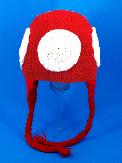 Toadee Mushroom Earflap Hat from Super Mario Brothers
