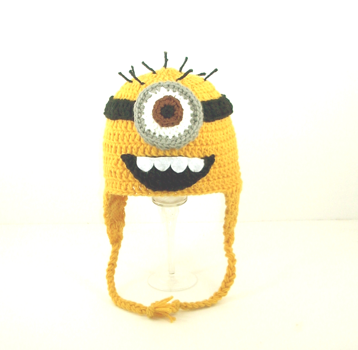 Minion Earflap Hat With One Eye from Despicable Me