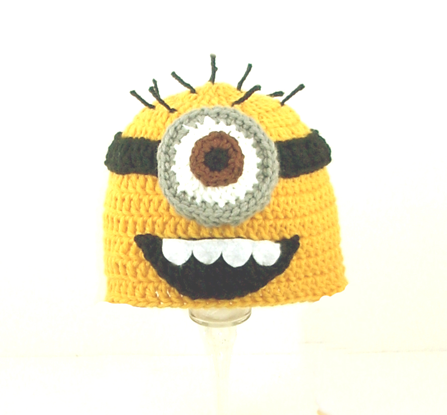 Minion Hat With One Eye From Despicable Me 2500 Cutiehats