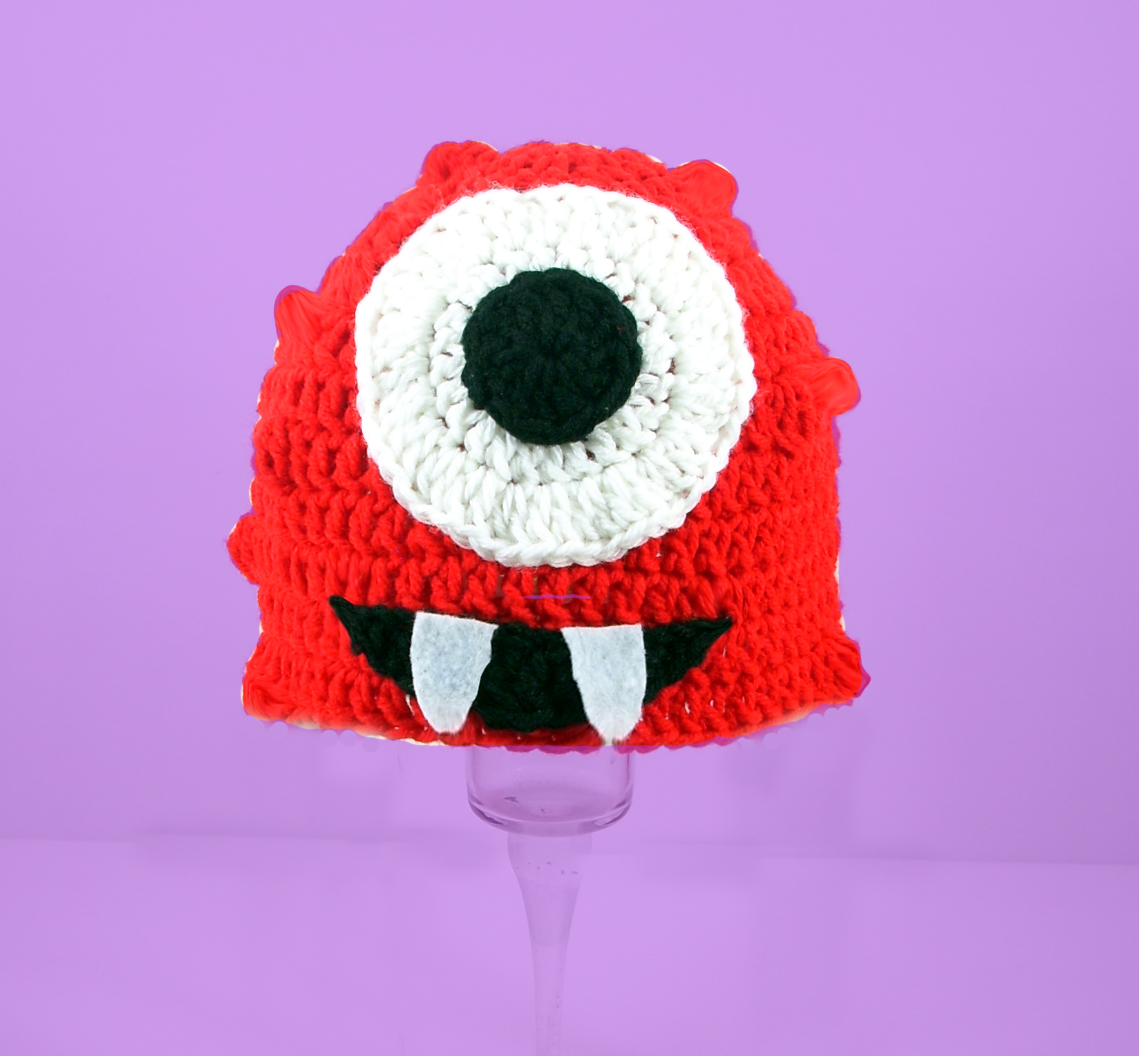 Red Cyclops Monster Hat