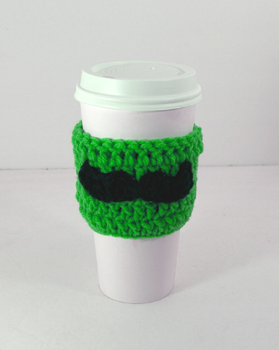 Mustache Cup Cozy in any color