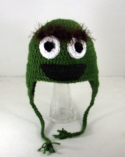 Oscar the Grouch Earflap Hat from Sesame Street