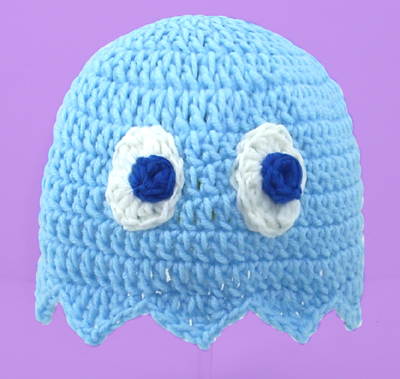Blue Pacman Ghost Hat