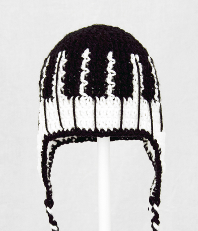Piano Keys Earflap Hat