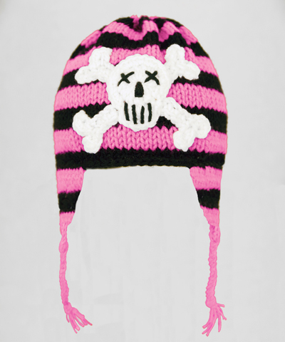Pink Pirate Earflap Hat
