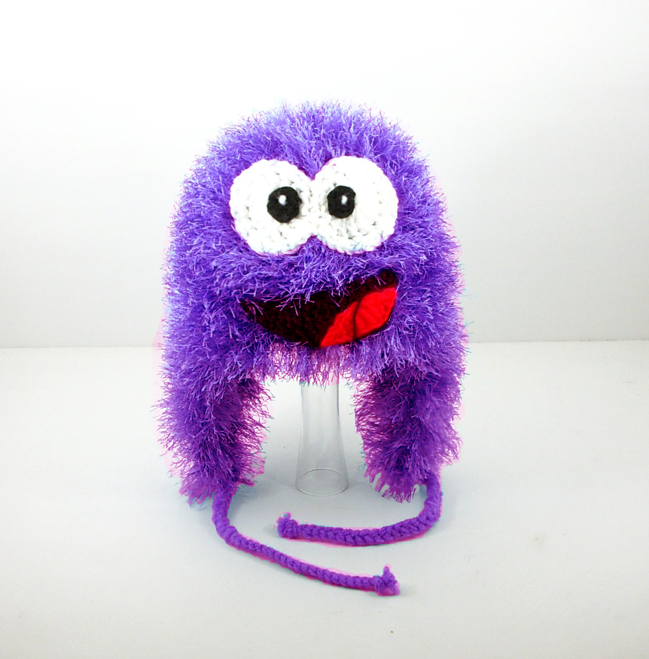 Purple Puffle Earflap Hat from Club Penguin