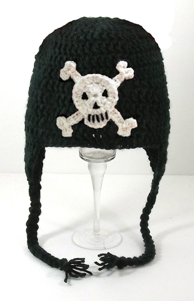 Skull and Crossbones Earflap Hat