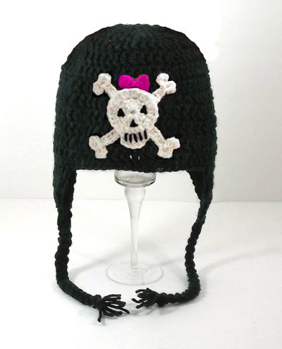 Skull and Crossbones for Girls Earflap Hat