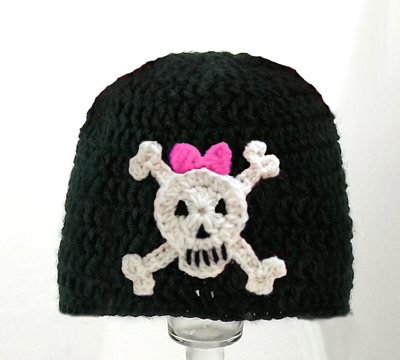 Skull and Crossbones for Girls Hat