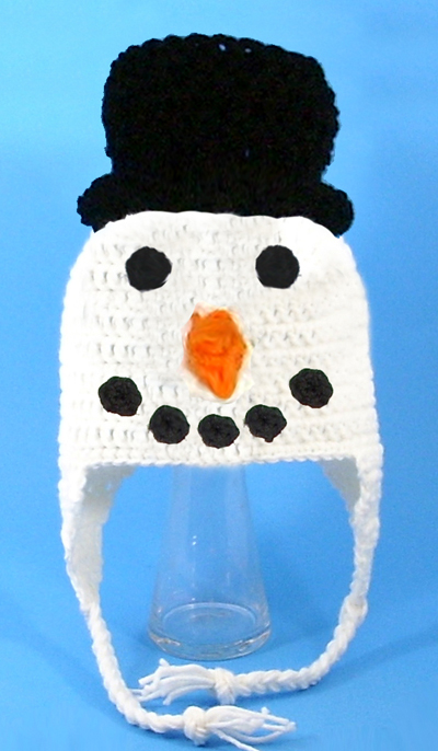 Snowman Face Earflap Hat - Click Image to Close
