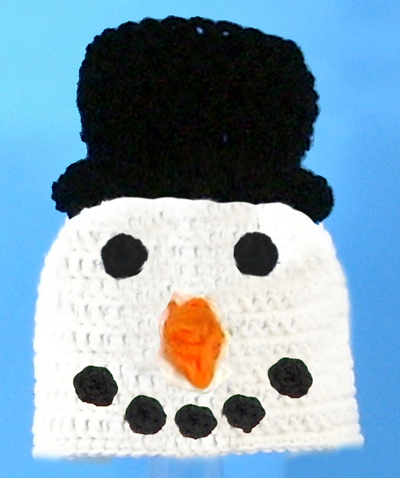 Snowman Face Hat - Click Image to Close